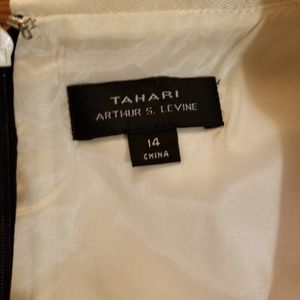 Tahari ASL Dresses - Tahari ASL Folded Collar Black and White Dress